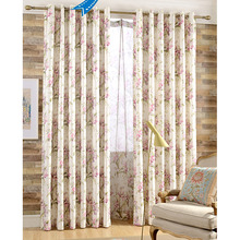Exquisite Jacquard and Printed Floral Curtains For Bedroom