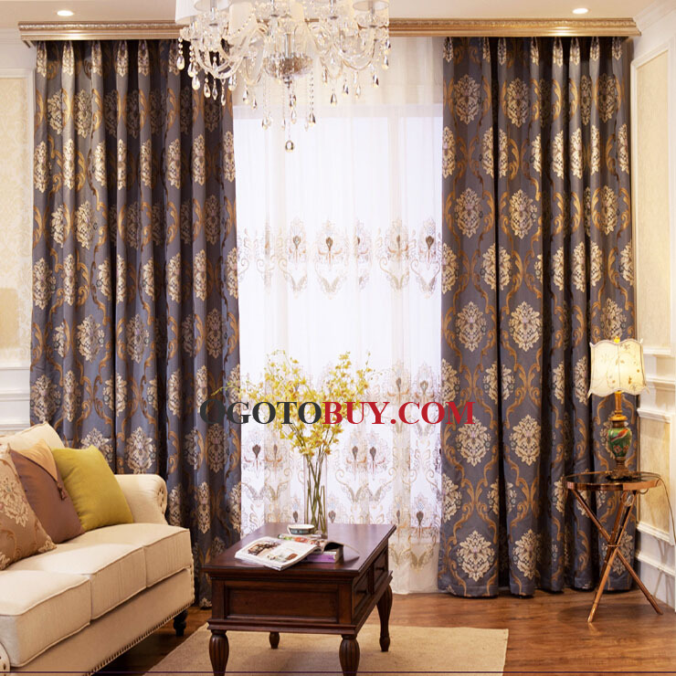 luxury european style classic living room curtains, buy jacquard