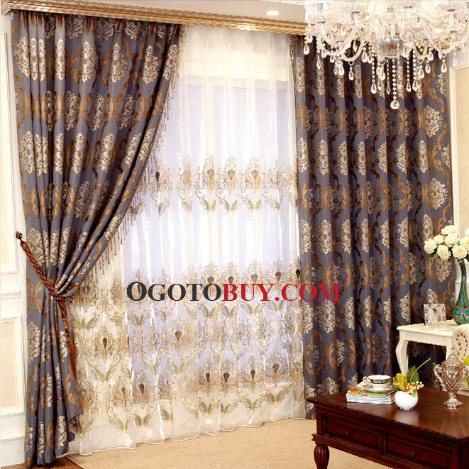 Luxury European Style Classic Living Room Curtains Buy jacquard