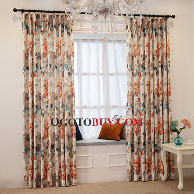 ... Floral Pattern Velvet Thick Living Room Curtains. Loading Zoom Part 66