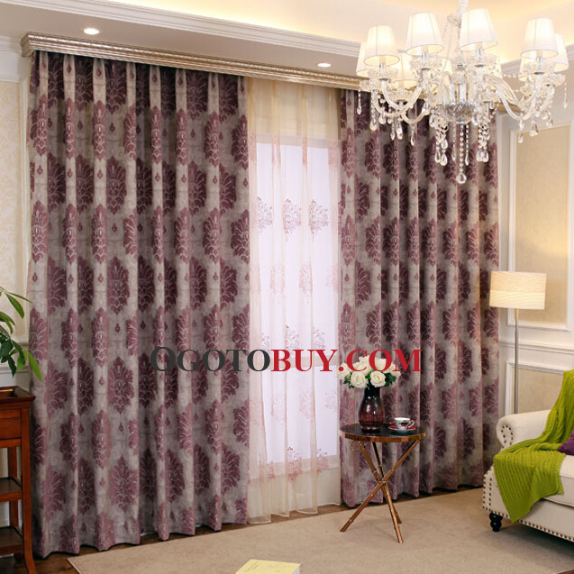 Thick Linen and Cotton Luxury Insulated Thermal Curtains, Buy dark ...