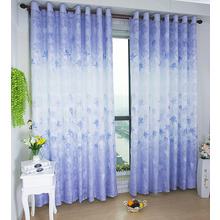 Fresh Floral Pattern Jacquard Country Style Curtains