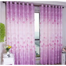 Romantic Pink-purple Girls Room Beautiful Country Curtains