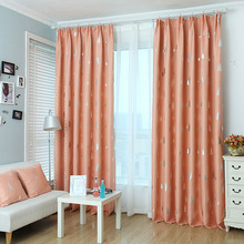 Polyester and Tree Pattern Room Darkening Kids Room Curtains