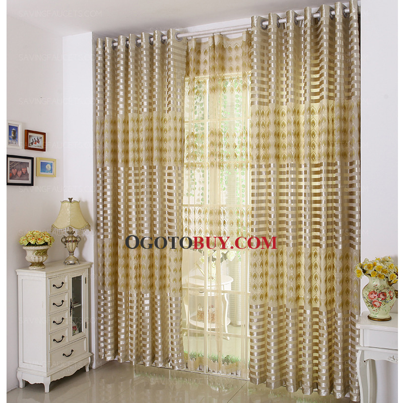 Living room panel curtains