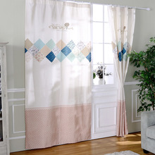 White Curtains Rustic Privacy Simple Pattern Print