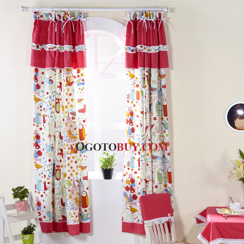 Pattern Window Curtains Cute Window Curtains Privacy Pattern Printed Red Buy Red Print