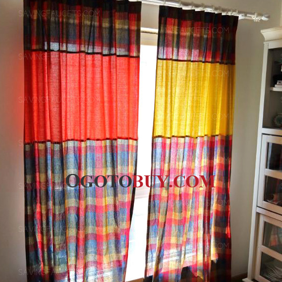 Country Curtains country curtains on sale : Country Curtains Linen/Cotton Colorful Plaid/Check Print, Buy ...