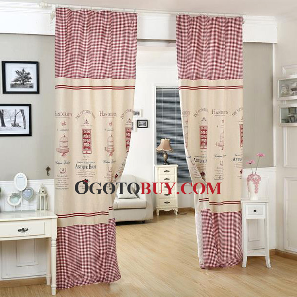Country Curtains country curtains on sale : Country Curtains Pattern Plaid/Check Print Splicing Red, Buy Red ...