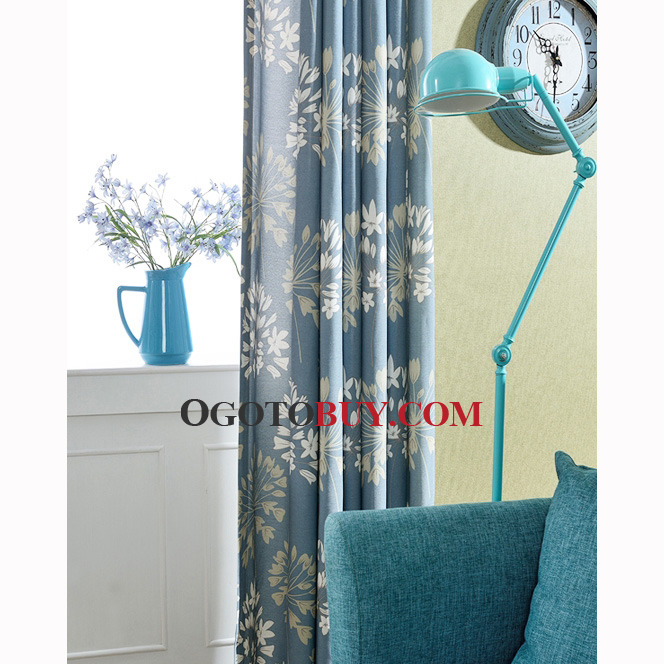 Country Curtains country curtains on sale : Country Curtains Room Darkening Floral Print Blue Linen/Cotton ...