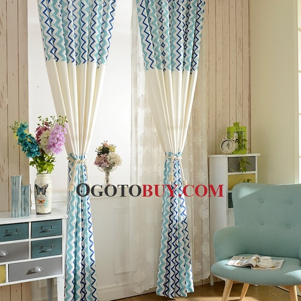 Loading Zoom. Fresh Light Blue Striped Country Style Curtains For Bedrooms  ...