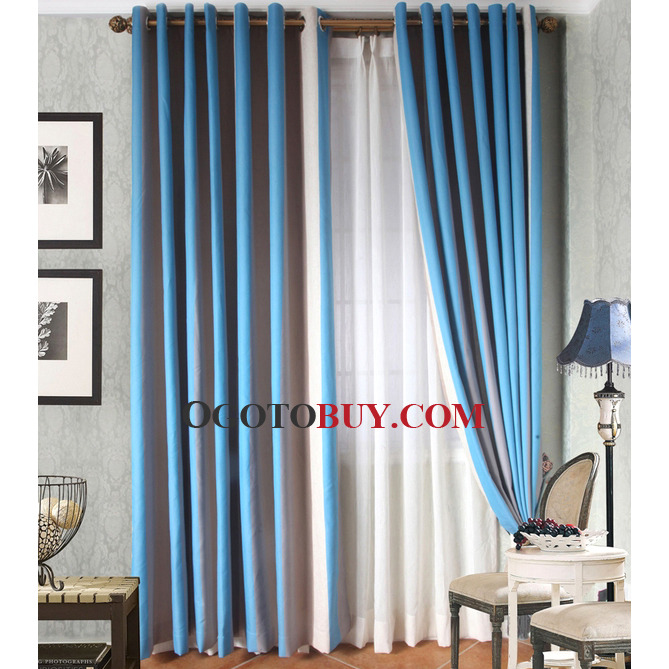 Loading Zoom Modern Custom Blue Mediterranean Style Double Colors
