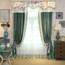 Green Jacquard Velvet Custom Thermal Bedroom Curtains (without valance)