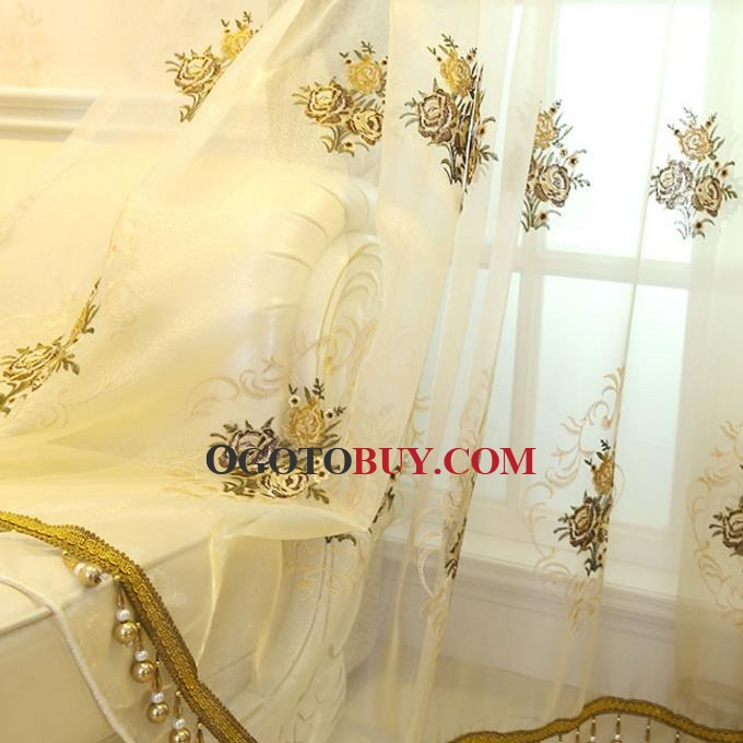 ... Yellow Jacquard Chenille Thermal Custom Bedroom Curtains(without Valance )