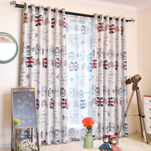 Ivory Patterned Insulated Custom Funky Kids Curtains