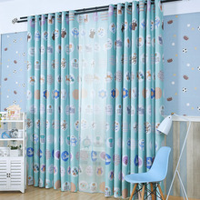 Blue Mediterranean Cute Custom Insulated Kids Curtains