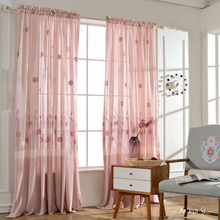Pink Floral Beautiful Custom Floor to Ceiling Sheer Curtains