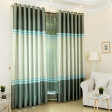 Sage Green Color Block Modern Chic Breathable Custom Curtains