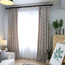 Tan Chic Leaf Floor to Ceiling Elegant Dining Room Curtains