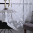 Cheap White Leaf Beautiful Floor to Ceiling Sheer Curtains