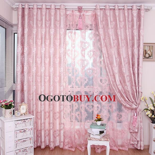Pink Floral Insulated Princess Curtains for Girls Bedroom, Buy ...