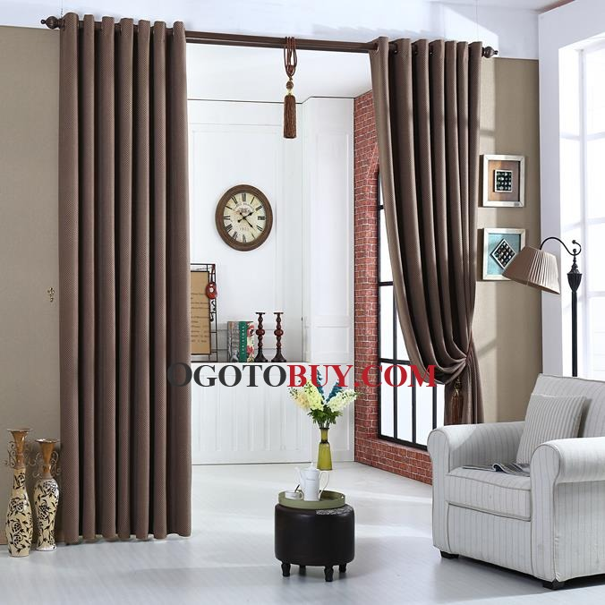 Chocolate Modern Energy Saving Curtains for Bedroom