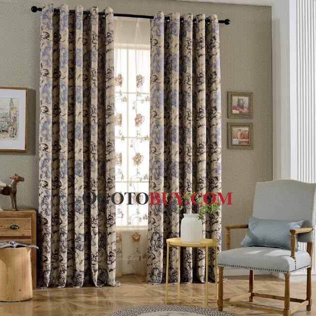 Elegant Purple Floral Soundproof Curtains for Bedroom