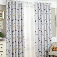 Cute Cartoon Print Polyester Window Curtains for Kids Room