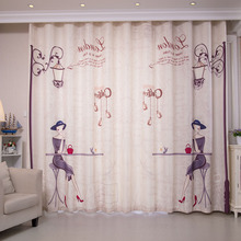 Beige Shabby Chic Curtains for Living Room