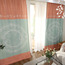 Pink and Sage Green Star Patterned Funky Curtains