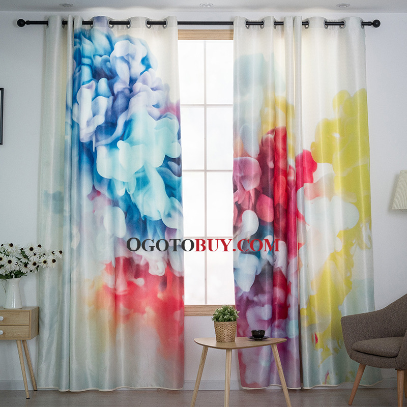 Colorful Patterned Unique Funky Living Room Curtains
